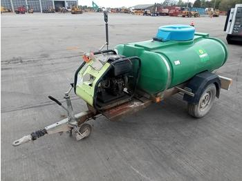 Trailer Engineering Single Axle Water Bowser, Pressure Washer - alet/ ekipman