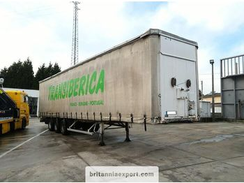 FRUEHAUF full steel frame tri axle 34 ton with lifting roof - tenteli dorse