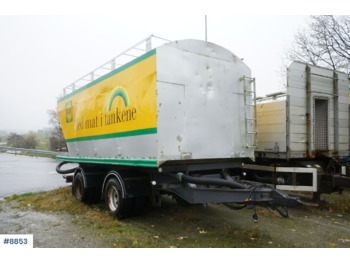 Istrail 2 axle power feed / bulk trailer with tip. 28 m3. Repair object. - damperli römork