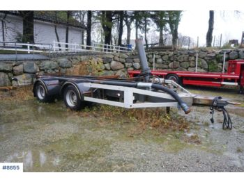 Ømi 2 axle trailer with tip and adjustable towbar. - damperli römork